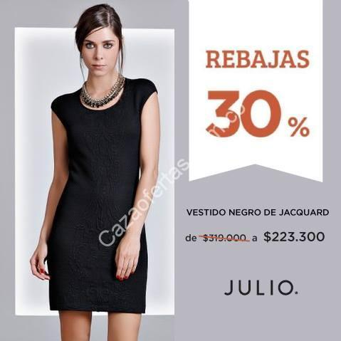 En Julio 30 De Descuento Vestido Negro Jacquard