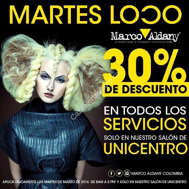 Oferta C.C Unicentro Bogotá, Marco Aldany, 30% de descuento en todos ...