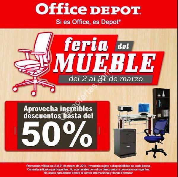 Office Depot Feria del Mueble 2017: hasta 50% de descuento