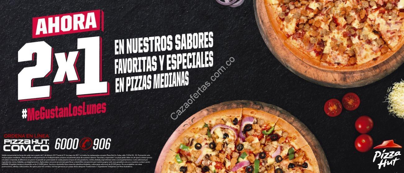 promoci n pizza hut 2 1 lunes en pizzas medianas. Black Bedroom Furniture Sets. Home Design Ideas