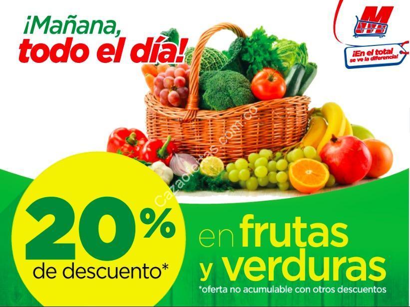 en megatiendas los miércoles 20 de descuento en frutas y verduras