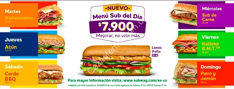 subway men sub del d a 2018 por de lunes a domingo