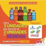En Tiendas Ara 3x2 en bebidas, ponqués y congelados referencias seleccionadas