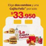 McDonalds combos Cajota Familiar desde $22.950
