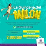 Sorteo Guatapuri Plaza la Quincena del Millón: Gana uno de los 2 bonos de $1 millón