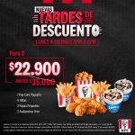 KFC Tardes de Descuento 2021 con combos desde $11.900
