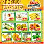 Catálogo Gran Colombia frutas, verduras y carnes del 12 al 14 de enero 2021