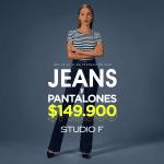 Promo Studio F: todos los jeans y pantalones $149.900