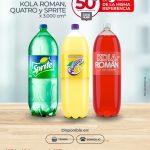 Ofertas Olímpica: leche y gaseosas al 50% de descuento segunda unidad