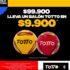 Promo Totto Copa América: mini balón Gratis en compras de $199.900