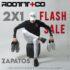 2×1 en calzado en la Flash Sale de Roott Co.