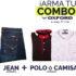 Promoción Combos Oxford de camiseta o blusa Gratis con tus compras